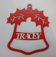 PERSONALISED  HANGING CHRISTMAS DECORATION //PERSONALISED XMAS DECORATION